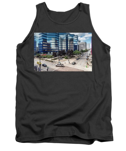 Pick-up Truck In The Itty-bitty-city Tank Top