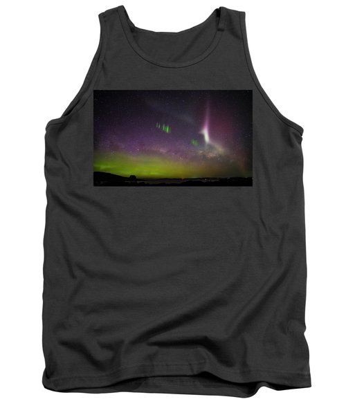Tank Top featuring the photograph Picket Fences And Proton Arc, Aurora Australis by Odille Esmonde-Morgan