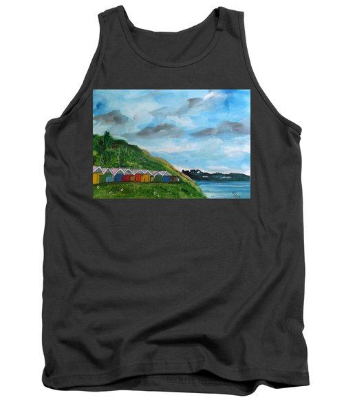 Picture Postcard View Of Scarborough Tank Top