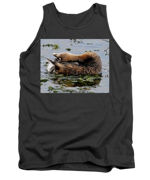 Pied-billed Grebe Spreading Oil Tank Top
