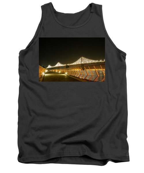 Pier 14 And Bay Bridge Lights Tank Top