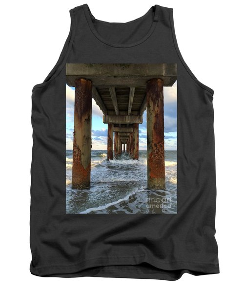 Pier In Strength And Peaceful Serenity Tank Top by Cindy Croal