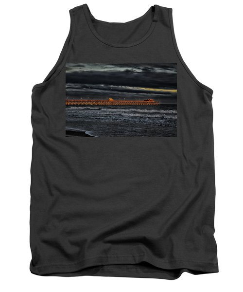 Tank Top featuring the photograph Pier Into Darkness by Kelly Reber
