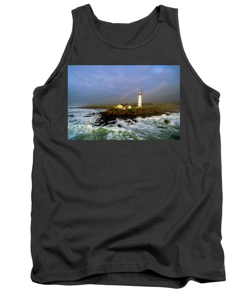 Pigeon Point Lighthouse Tank Top by Evgeny Vasenev