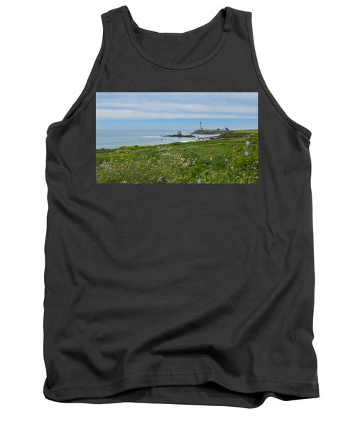 Pigeon Point Lighthouse Tank Top by Mark Barclay