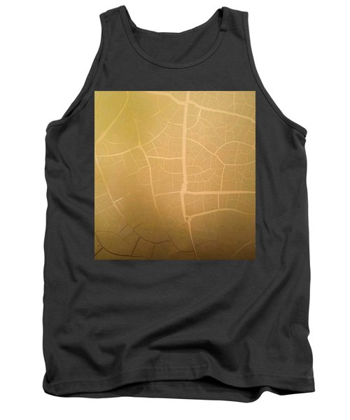 Pillow Pattern Amber Leaf/crackle Tank Top