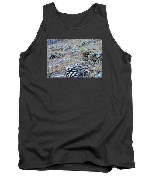Tank Top featuring the photograph Pine Cones by Kay Gilley