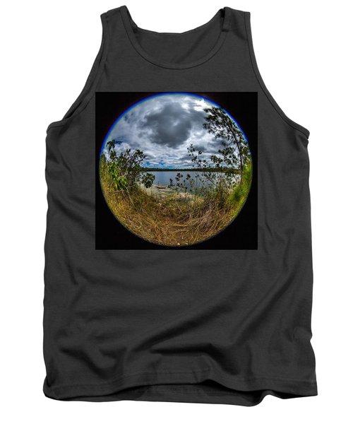 Pine Glades Lake 18 Tank Top by Michael Fryd