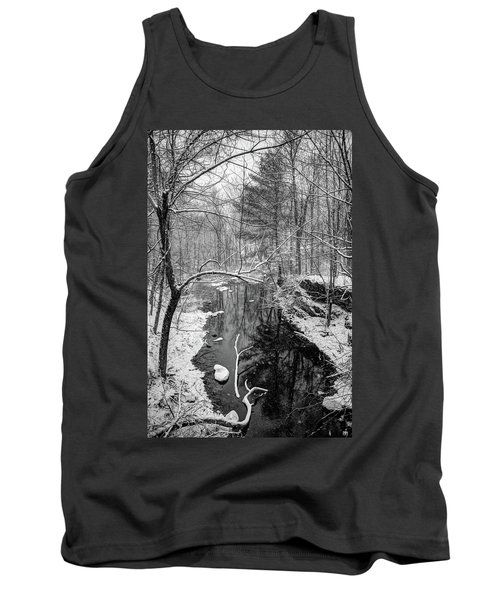 Pine Reflection On The Sheepscot Tank Top