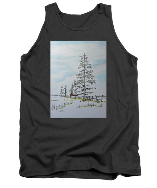 Pine Tree Gate Tank Top by Jack G  Brauer