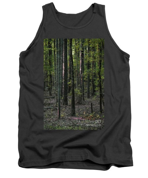 Tank Top featuring the photograph Pine Wood Sunrise by Skip Willits