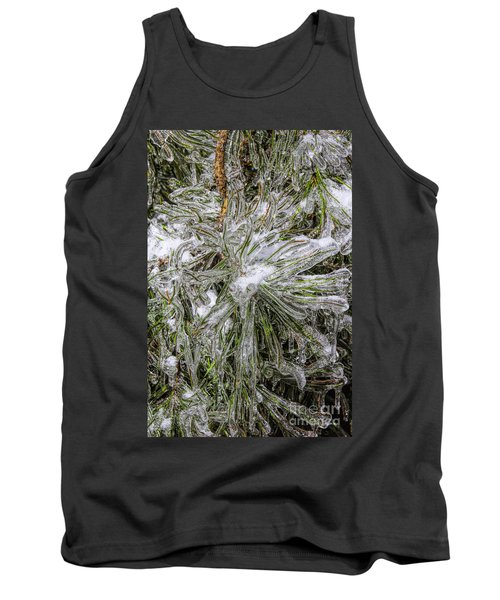 Tank Top featuring the photograph Pinecicles by Barbara Bowen