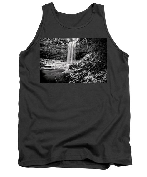 Piney Falls In Black And White Tank Top