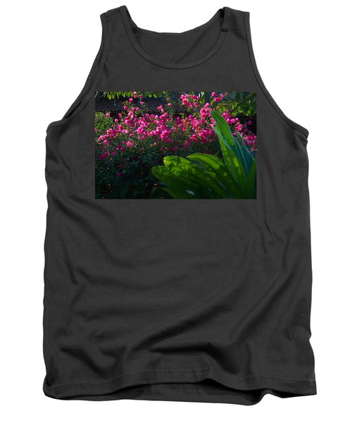 Pink And Green Tank Top by Jim Walls PhotoArtist