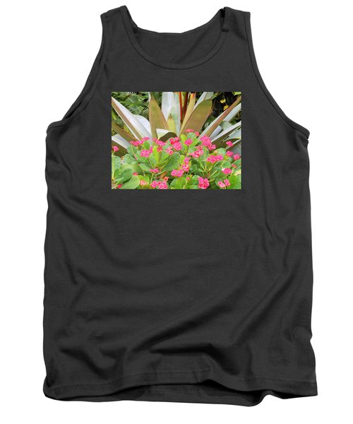 Tank Top featuring the photograph Pink And Spiky by Kay Gilley