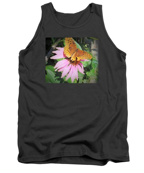 Tank Top featuring the photograph Pink And Yellow by Jeanette Oberholtzer