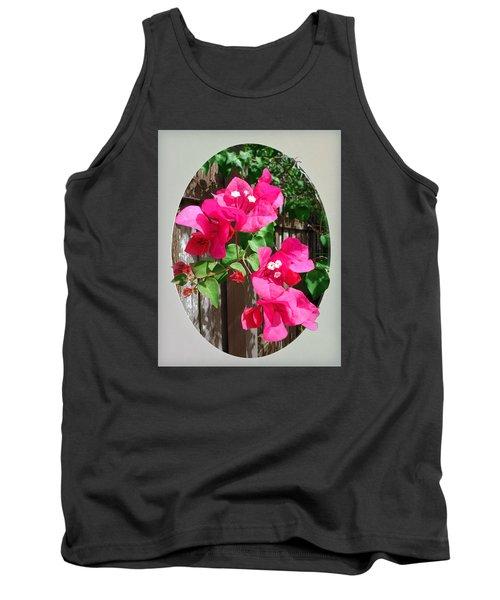 Pink Bougainvillea Tank Top by Ginny Schmidt