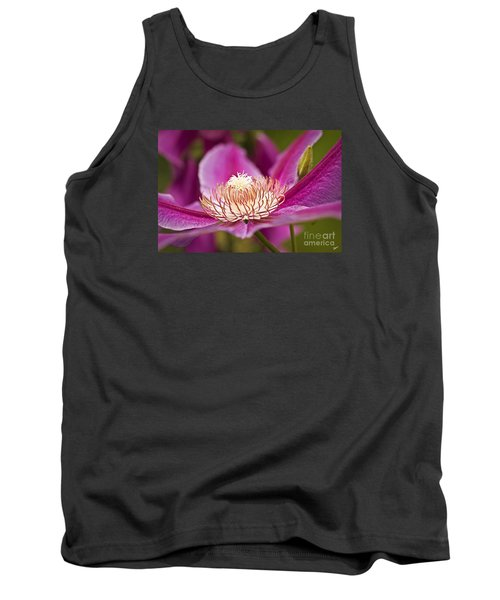 Tank Top featuring the photograph Pink Clematis Flower by Alana Ranney
