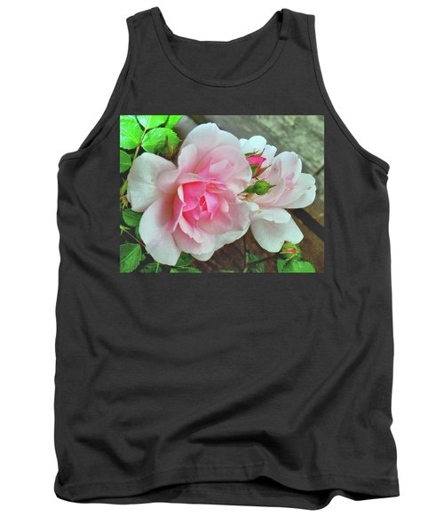 Tank Top featuring the photograph Pink Cluster Of Roses by Janette Boyd