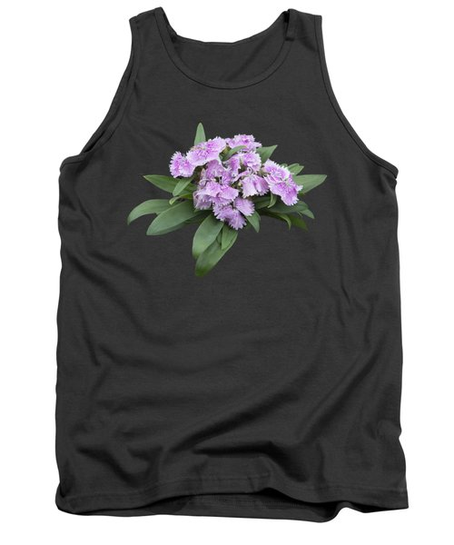 Pink Floral Cutout Tank Top by Linda Phelps