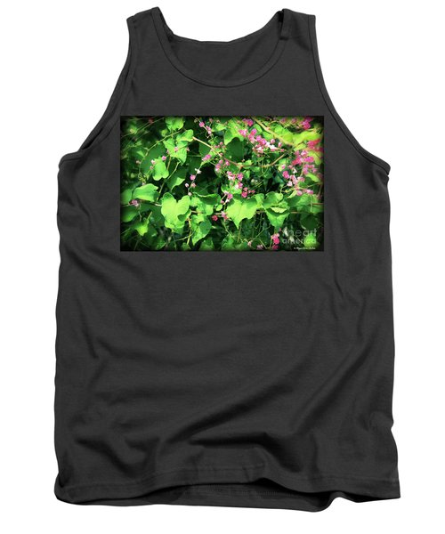 Tank Top featuring the photograph Pink Flowering Vine2 by Megan Dirsa-DuBois