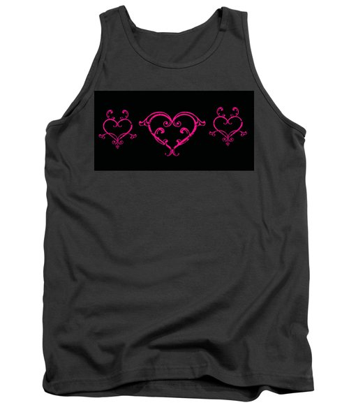 Pink Hearts  Tank Top