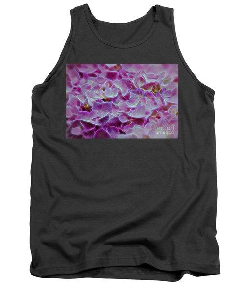 Pink Hydrangea Glow Tank Top