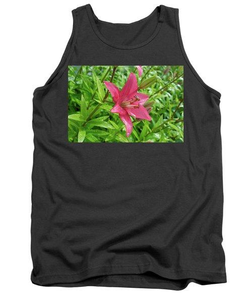 Pink Lily Flowers By Tamara Sushko  Tank Top