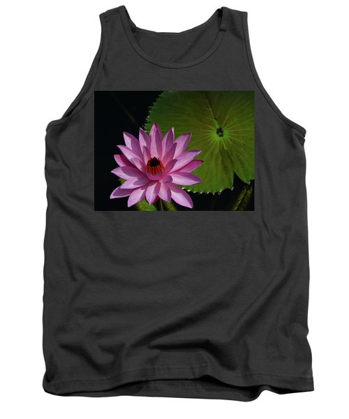 Pink Lotus Tank Top by Evelyn Tambour