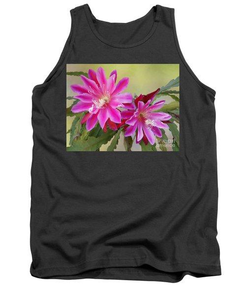 Pink Epiphyllum Lily Tank Top