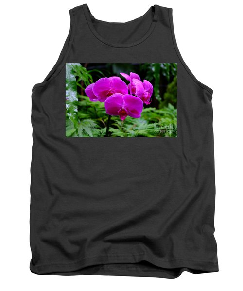 Pink Orchids Tank Top by Mini Arora