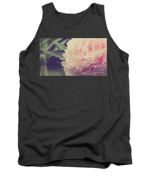 Tank Top featuring the photograph Pink Peony Vintage Style by Edward Fielding