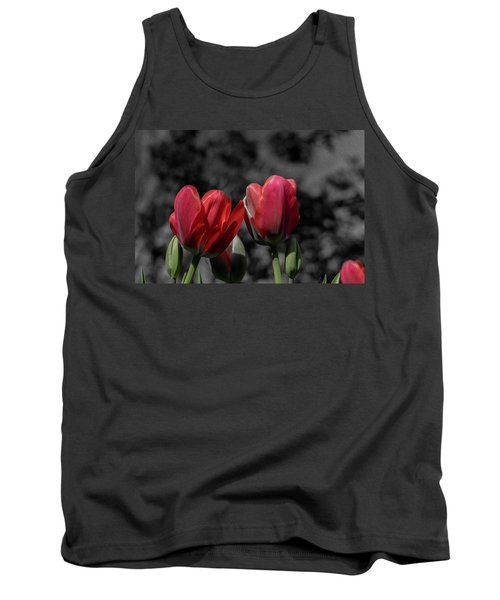 Pink Tulip Pop Tank Top