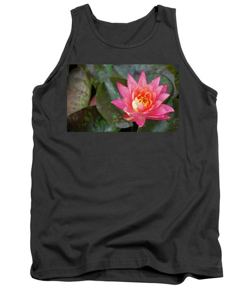 Tank Top featuring the photograph Pink Water Lily Beauty by Amee Cave