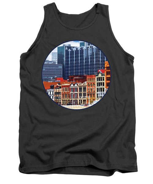 Pittsburgh Pa Skyline Closeup Tank Top by Susan Savad