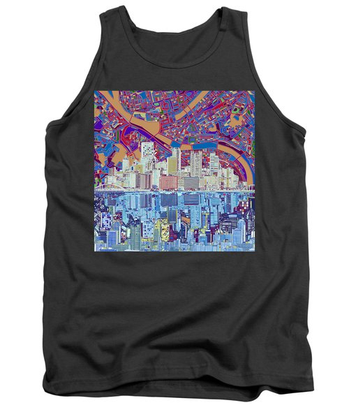 Pittsburgh Skyline Abstract 6 Tank Top
