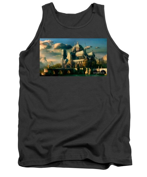 Places Angels Dwell Painted In Bleak Tank Top