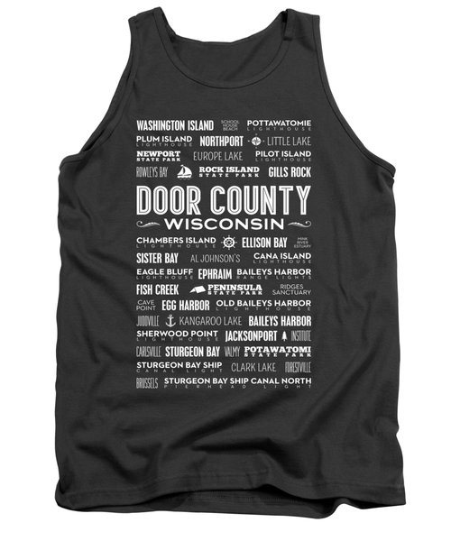 Tank Top featuring the photograph Places Of Door County On Gray by Christopher Arndt