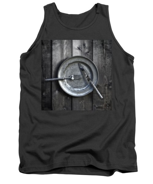 Plate With Silverware Tank Top