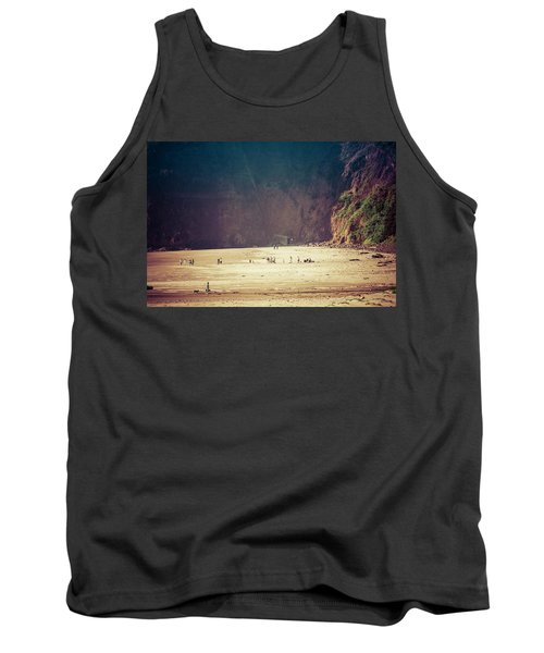 Playing Along Oceanside Oregon Tank Top