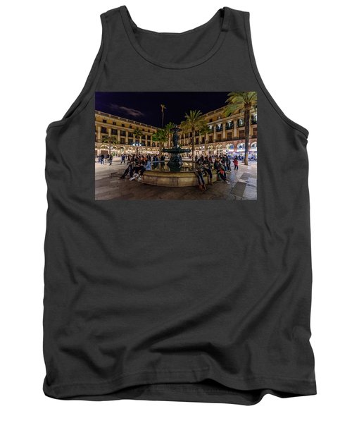 Plaza Reial Tank Top by Randy Scherkenbach