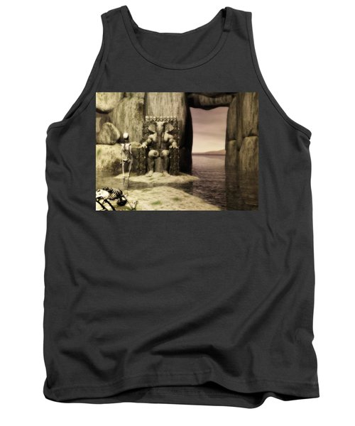 Tank Top featuring the digital art Plea Of The Penitent To The Lord Of Perdition by John Alexander