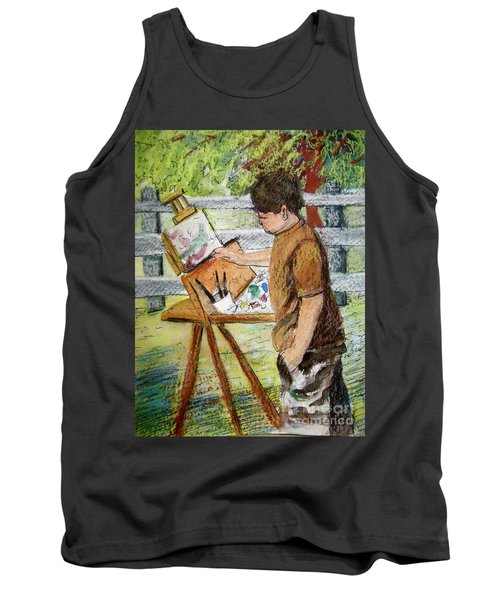 Plein-air Painter Boy Tank Top