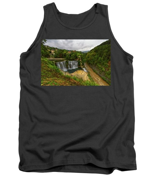 Pliva Waterfall, Jajce, Bosnia And Herzegovina Tank Top