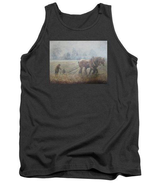 Plowing It The Old Way Tank Top by Donna Tucker