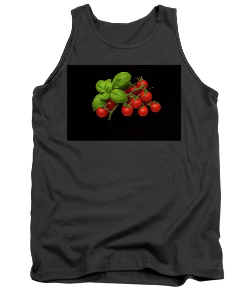 Tank Top featuring the photograph Plum Cherry Tomatoes Basil by David French