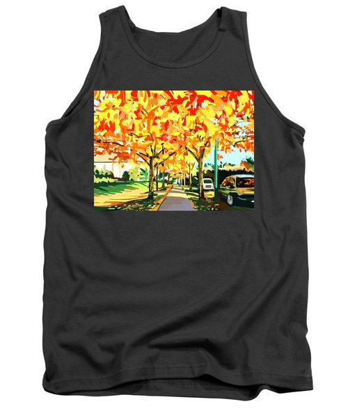 Plumes Of Leaves Tank Top