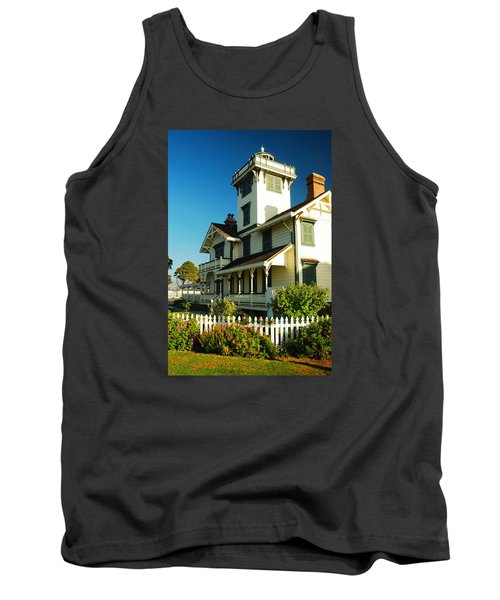 Tank Top featuring the photograph Point Fermin Lighthouse by James Kirkikis