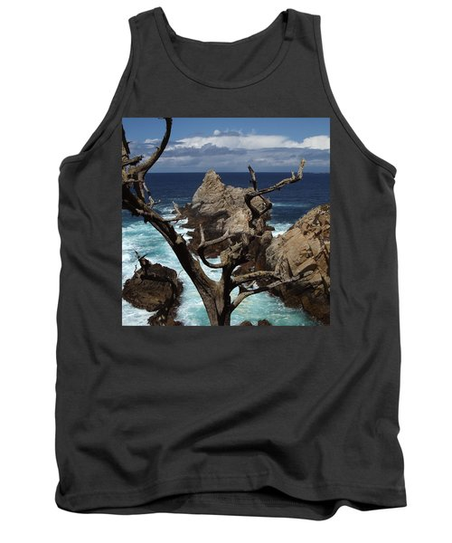 Point Lobos Rocks And Branches Tank Top