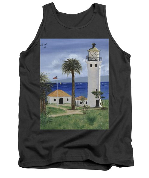 Point Vicente Lighthouse Tank Top by Jamie Frier